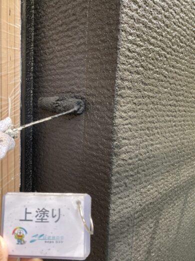 奈良生駒郡三郷町I様 外壁塗装・屋根塗装 外壁上塗り