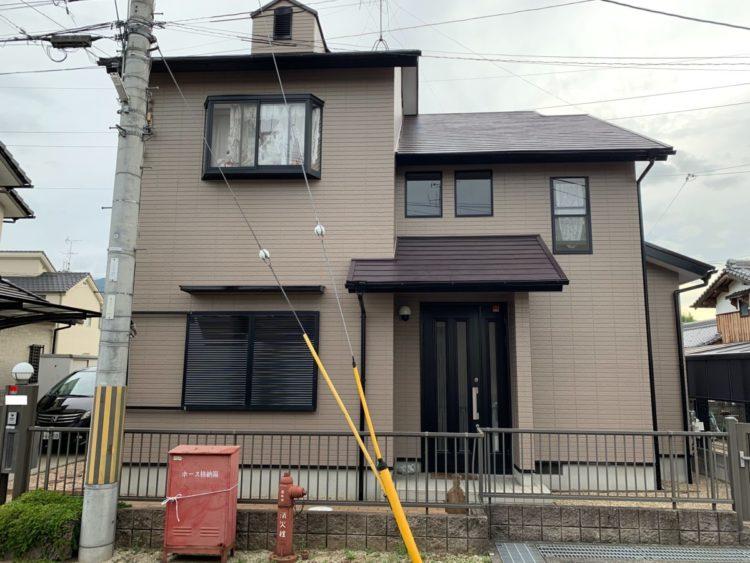 奈良葛城市M様邸 外壁塗装・屋根塗装・ベランダ防水工事 施工後の写真