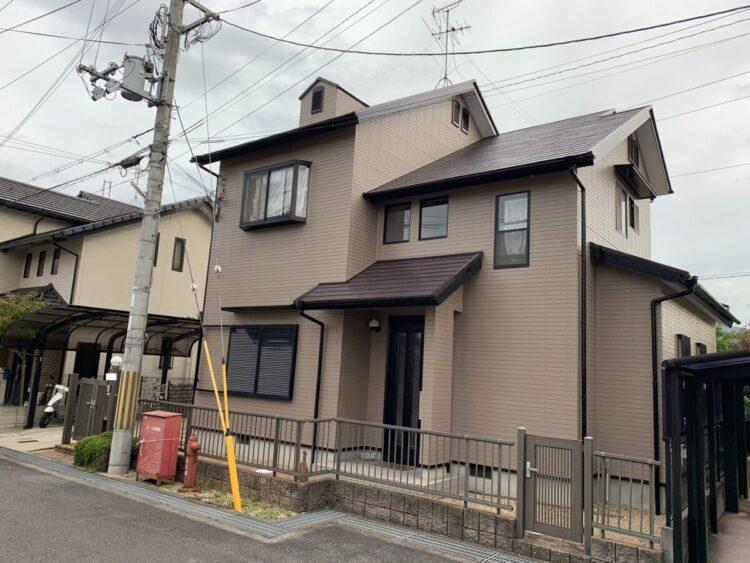 奈良生駒郡平群町M様邸 外壁塗装・屋根塗装・防水工事 施工後の写真