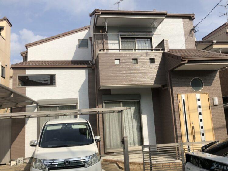 奈良北葛城郡河合町T様 外壁塗装・防水工事 施工後の写真