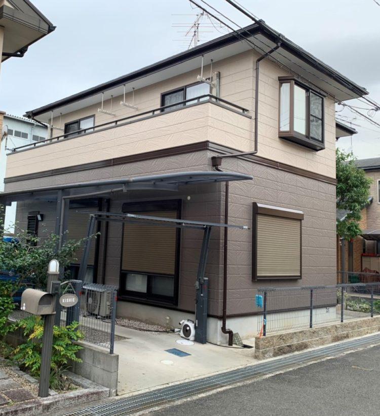 奈良天理市N様邸 外壁塗装・屋根塗装・ベランダ防水工事 施工後の写真