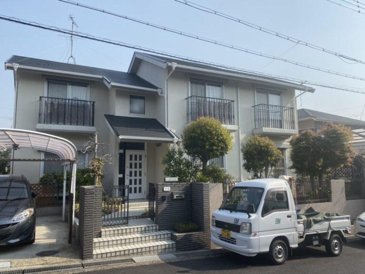 奈良香芝市M様 外壁塗装・屋根カバー工法 施工後の写真
