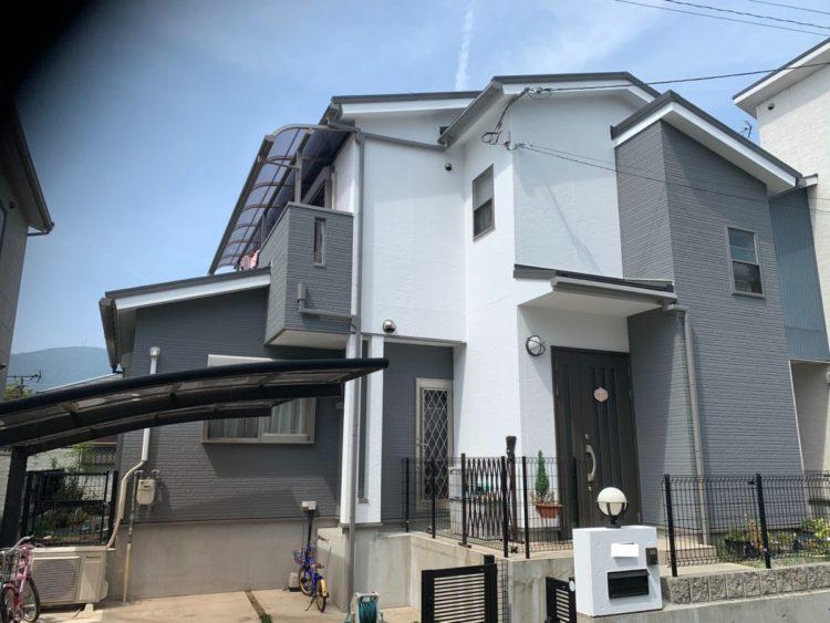 奈良生駒市N様 外壁塗装・屋根カバー工法・ベランダ防水工事・外塀塗装 施工後の写真