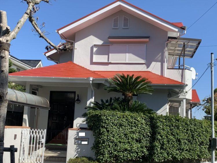 奈良の香芝市の株式会社ヨネヤの外壁塗装と屋根塗装の相性