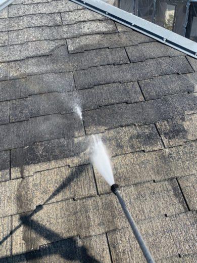奈良北葛城郡広陵町U様 外壁塗装・屋根塗装工事 屋根 高圧洗浄