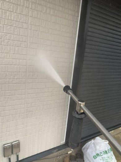 奈良北葛城郡広陵町U様 外壁塗装・屋根塗装工事 外壁 高圧洗浄