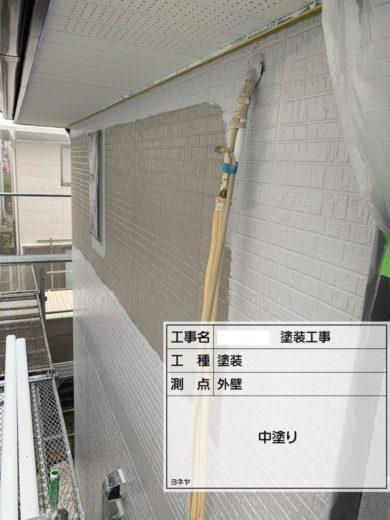 奈良北葛城郡広陵町U様 外壁塗装・屋根塗装工事 外壁塗装 中塗り