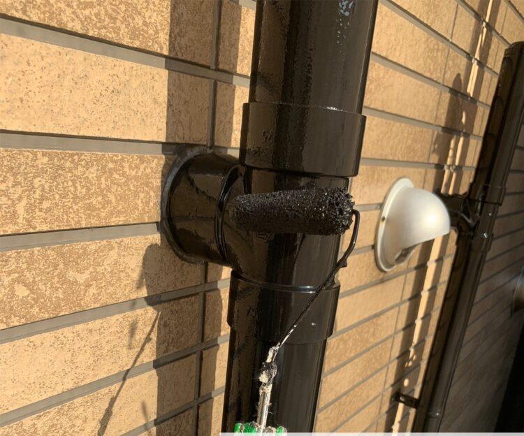 奈良の香芝市の株式会社ヨネヤの外壁塗装と屋根塗装の雨樋