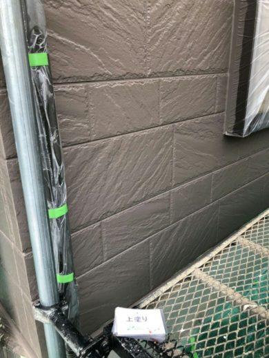 奈良天理市N様邸 外壁塗装・屋根塗装・ベランダ防水工事 外壁塗装上塗り