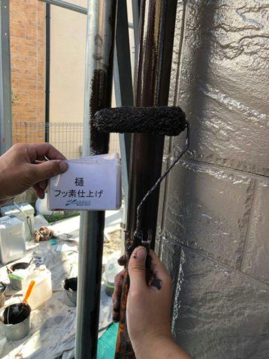 奈良天理市N様邸 外壁塗装・屋根塗装・ベランダ防水工事 樋フッ素仕上げ