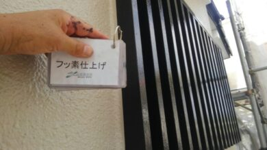 奈良北葛城郡上牧町S様邸 外壁塗装工事 木部フッ素仕上げ