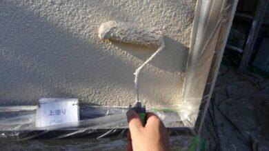 奈良北葛城郡上牧町S様邸 外壁塗装工事 外壁塗装上塗り