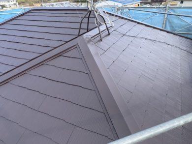 奈良・北葛城郡河合町S様 外壁塗装・屋根塗装 屋根部、上塗り
