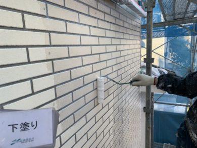 奈良・北葛城郡河合町S様 外壁塗装・屋根塗装 下塗り