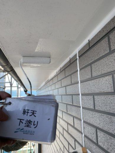 奈良・北葛城郡河合町S様 外壁塗装・屋根塗装 軒天下塗り