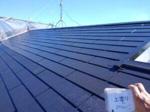現場の作業風景 屋根塗装
