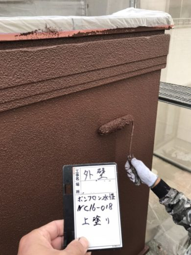 奈良生駒市O様 外壁塗装・屋根塗装工事 外壁塗装上塗り