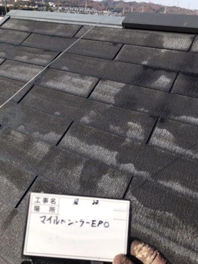 奈良生駒市O様 外壁塗装・屋根塗装工事 屋根塗装下塗り