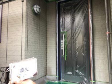 奈良北葛城郡上牧町M様 外壁塗装工事 養生