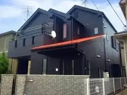 奈良の香芝市の株式会社ヨネヤの外壁塗装と屋根塗装のブラックの家