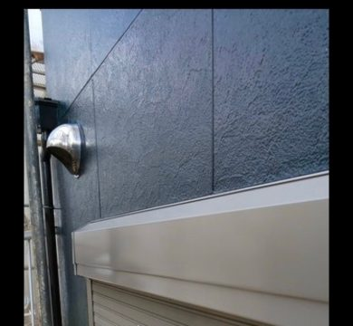 奈良香芝市H様邸 外壁塗装・屋根塗装・防水工事」 シャッターボックスフッ素仕上げ