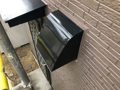 奈良北葛城郡上牧町H様 外壁塗装・屋根塗装・ベランダ防水工事 換気フードフッ素仕上げ