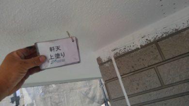 奈良・奈良市M様 外壁塗装・防水工事 軒天上塗り