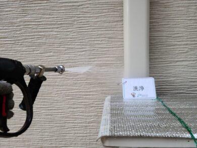 奈良大和高田市N様邸 外壁塗装・屋根塗装・防水工事 洗浄