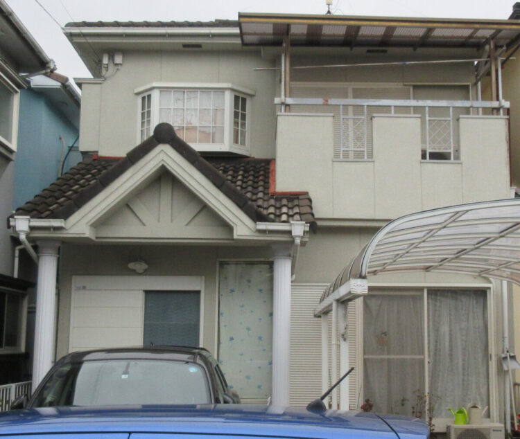 奈良大和高田市A様邸 外壁塗装・屋根塗装・防水工事 施工前の写真
