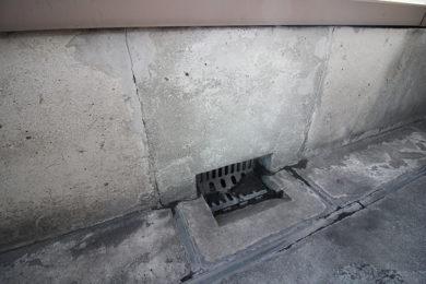 ベランダの排水口