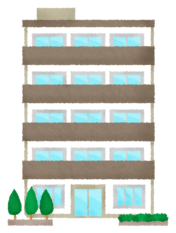 奈良の香芝市の株式会社ヨネヤの外壁塗装と屋根塗装のマンション