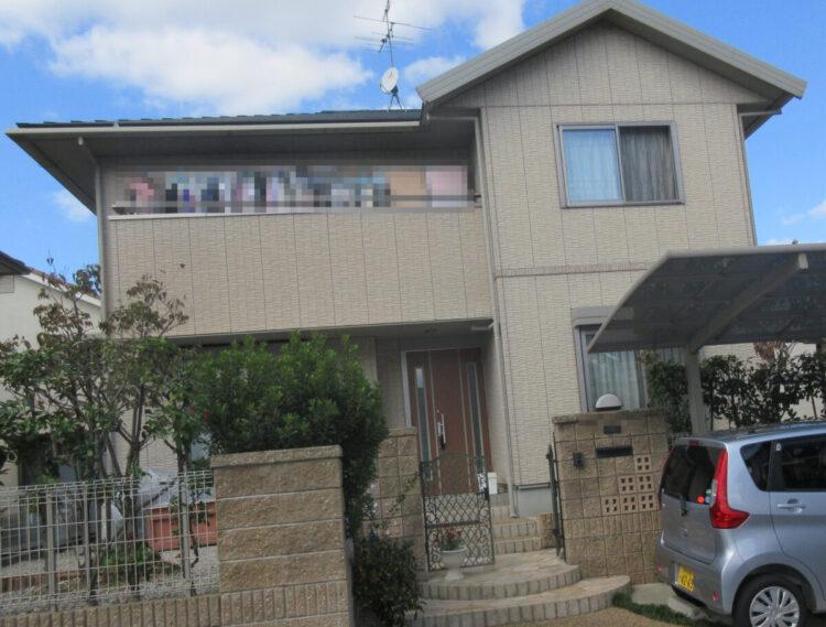 奈良北葛城郡広陵町T様邸 外壁塗装工事 施工前の写真