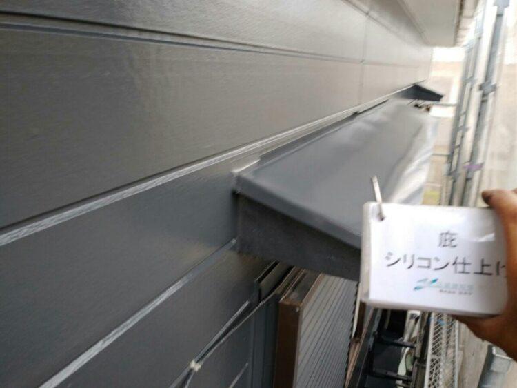 奈良の香芝市の株式会社ヨネヤの外壁塗装と屋根塗装の庇