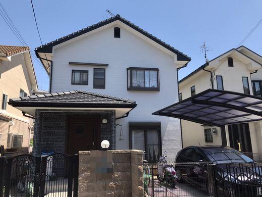 奈良の香芝市の株式会社ヨネヤの外壁塗装と屋根塗装の施工後の画像