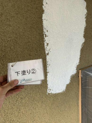 奈良生駒市H様邸 外壁塗装 外壁塗装下塗り2回目