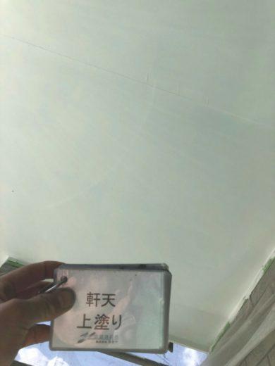 奈良大和高田市N様 外壁塗装・屋根塗装工事 軒天 上塗り