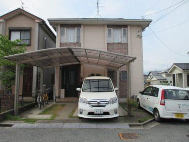 奈良県香芝市O様邸、外壁・屋根塗装工事 施工前の写真