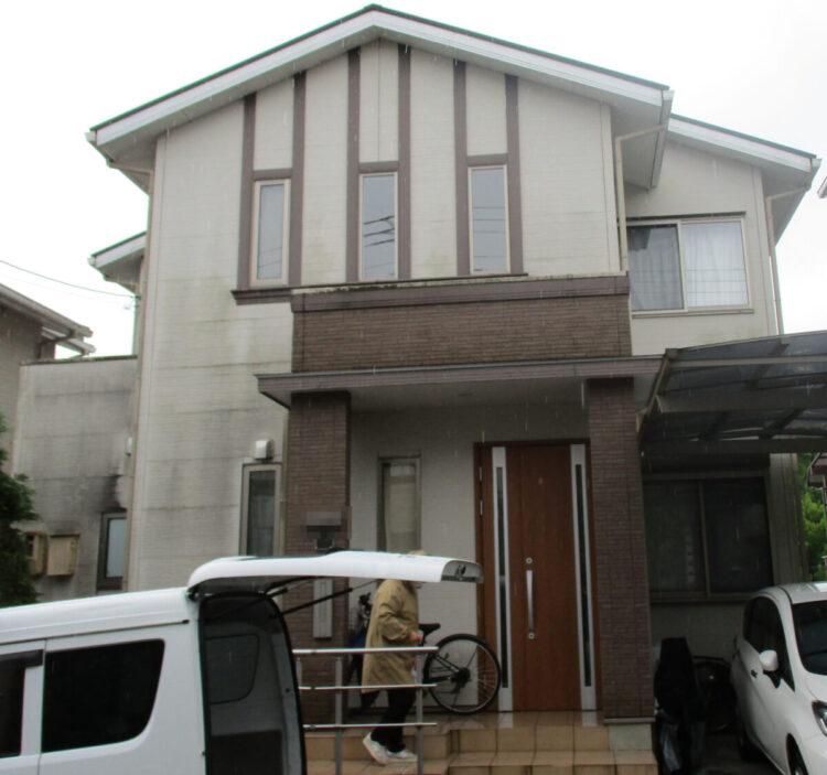 奈良香芝市I様邸 外壁塗装・屋根塗装・防水工事 施工前の写真