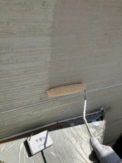奈良大和高田市N様邸 外壁塗装・屋根塗装 2F外壁塗装下塗り