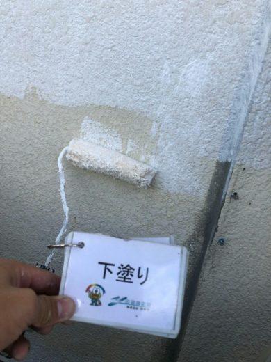 奈良香芝市T様邸 外壁塗装下塗り