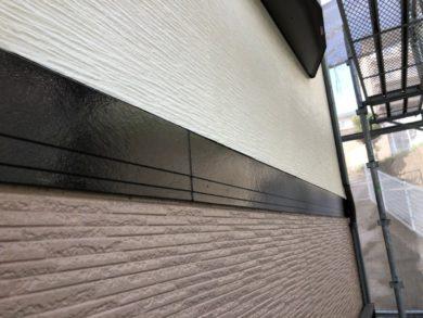 奈良奈良市U様邸 外壁塗装・屋根塗装・ベランダ防水工事 帯フッ素仕上げ