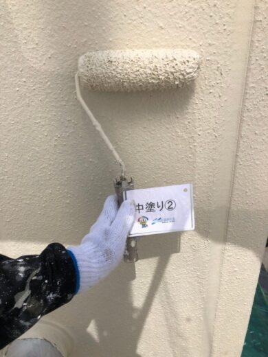 奈良葛城市S様邸 外壁塗装工事 外壁中塗り②