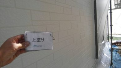 奈良・奈良市M様 外壁塗装・防水工事 外壁上塗り