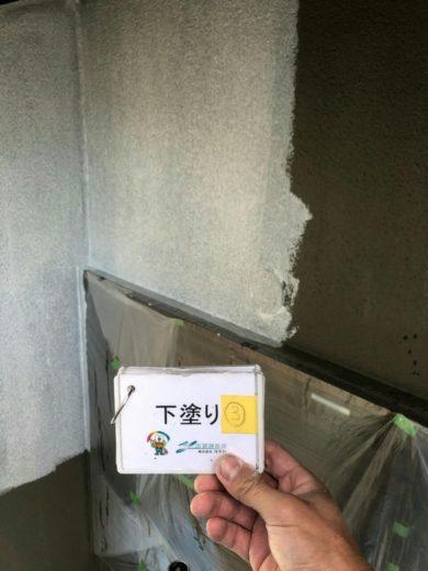 奈良北葛城郡河合町Y様 外壁塗装・その他の工事 外壁塗装下塗り3回目