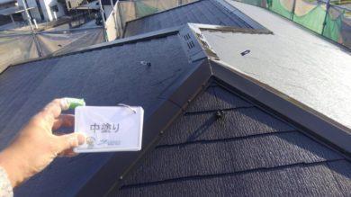 奈良生駒郡三郷町F様邸 外壁塗装・屋根塗装 屋根塗装 中塗り