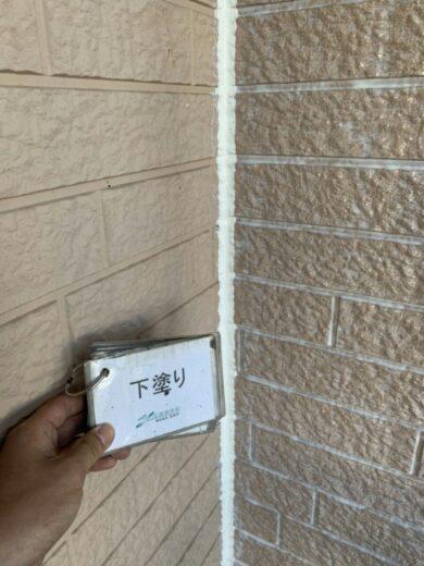 奈良香芝市K様邸 外壁塗装・屋根塗装工事 外壁下塗り