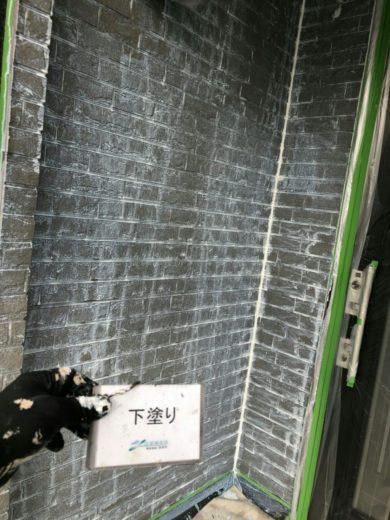 奈良橿原市K様 外壁塗装・屋根塗装・防水工事 外壁塗装 下塗り