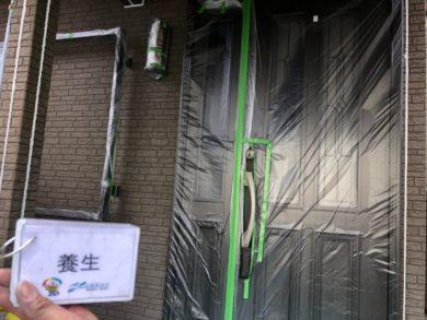奈良北葛城郡上牧町H様 外壁塗装・屋根塗装・ベランダ防水工事 養生