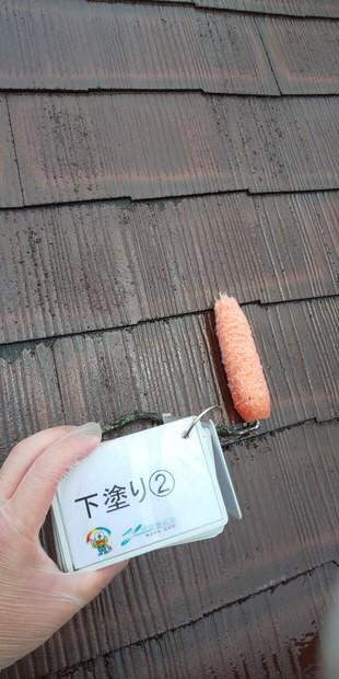 奈良北葛城郡上牧町O様 外壁塗装・屋根塗装工事 屋根下塗り②