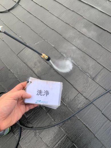奈良香芝市I様邸 屋根塗装工事 屋根高圧洗浄